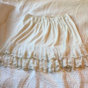 Off white slip or dress extender